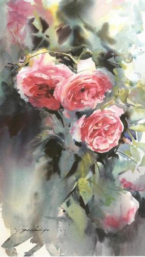 花のある静物画