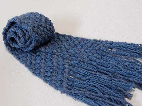 ゆび織りで作るやわらかウールのマフラー