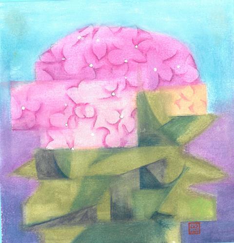 (6/12・特)水彩・パステルで紫陽花を描こう
