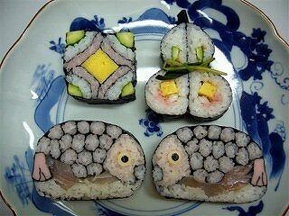 飾り巻き寿司 3月「鯛・四海巻・瓢箪」