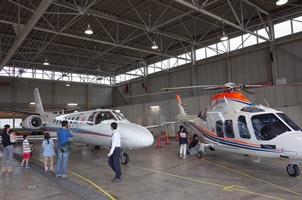 朝日新聞社航空部格納庫ツアー