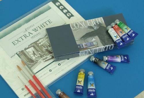 画材を試そう マイメリ水彩絵の具で静物を描く