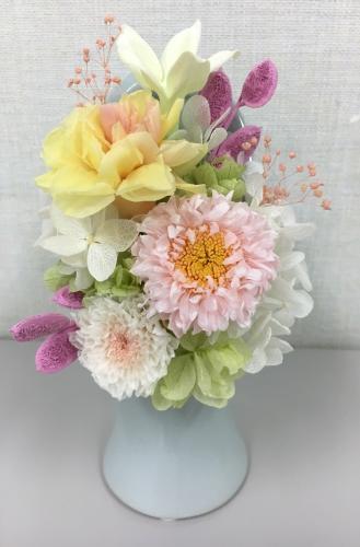 プリザーブドフラワーで作る 仏花のアレンジメント
