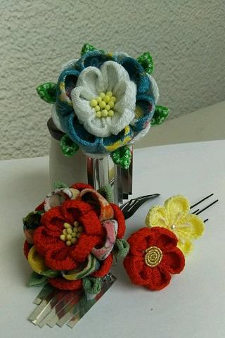 つまみ細工で作る可憐な花かんざし