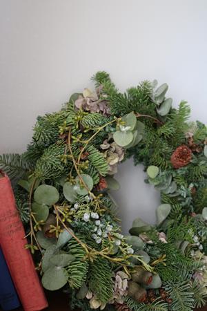 クリスマスを迎えるリース