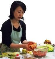 結城奈佳先生の韓国本場の手作りキムチ