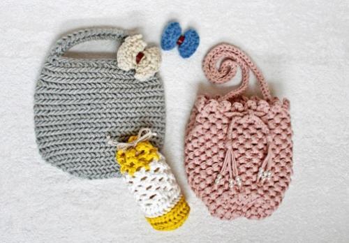 太糸で編むやさしいニット小物