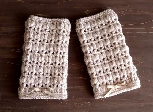 手編み2日―ハンドウォーマー