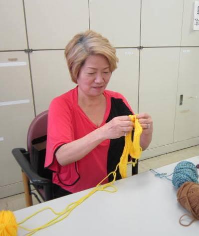 60歳からの手編みレッスン