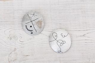 アルミ象嵌のブローチ作り