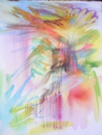 自由に楽しむ抽象水彩画