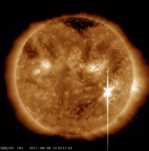 巨大太陽フレアと宇宙の嵐