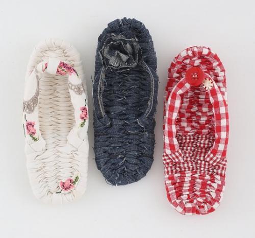 カラフル柄で編む おしゃれかわいい布ぞうり