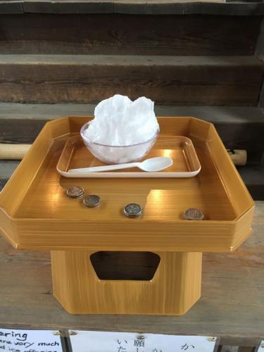「お菓子な奈良」のかき氷奉納