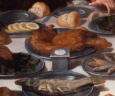 聖書の物語の食事の情景