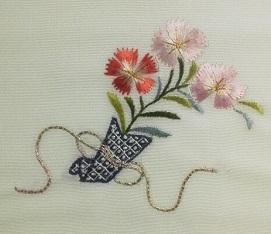 日本刺しゅう2日―花の額絵