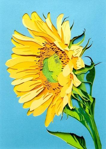 カラフル切り絵「彫紙アート」