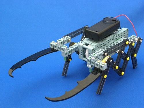 モーターと歯車で動くクワガタロボットを作ろう