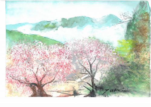 水彩で描く風景画のコツ