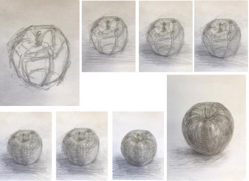 「りんご」を描く~鉛筆画・体験