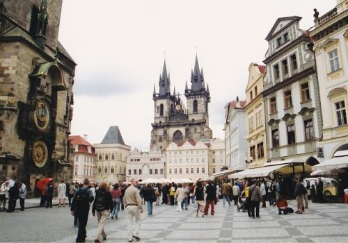 プラハの旧市街広場(チェコ)