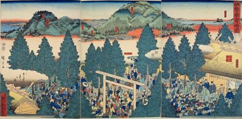 伊勢神宮参りが大流行し、地図の需要が高まった(国立国会図書館)