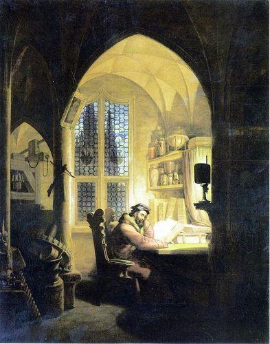 ケルスティング『研究室のファウスト』(1829年作)
