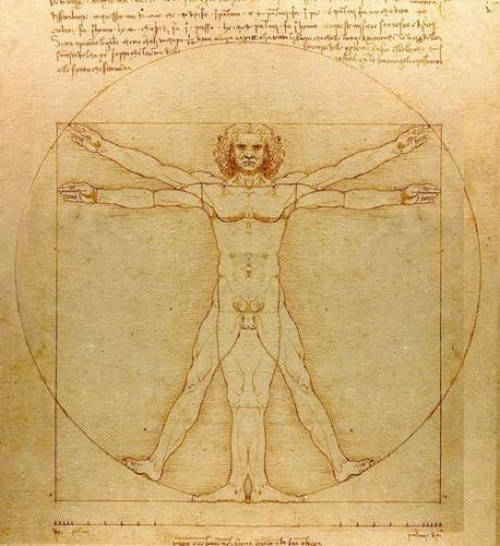 レオナルド・ダ・ヴィンチ 「ウィトルウィウス的人体図」 アカデミア美術館、ヴェネツィア