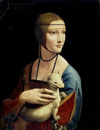 白貂を抱く貴婦人