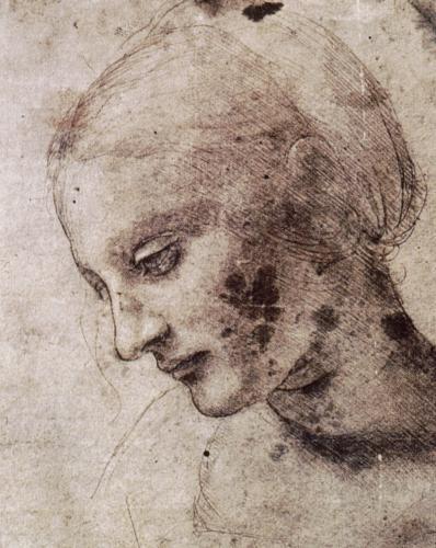 レオナルド 女性の素描