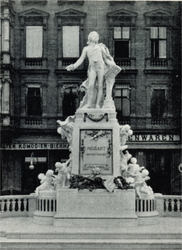 アルベルティーナ広場に立っていた当時のウィーンのモーツァルト像