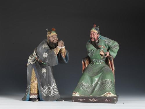 関羽・張飛像 天津博物館蔵