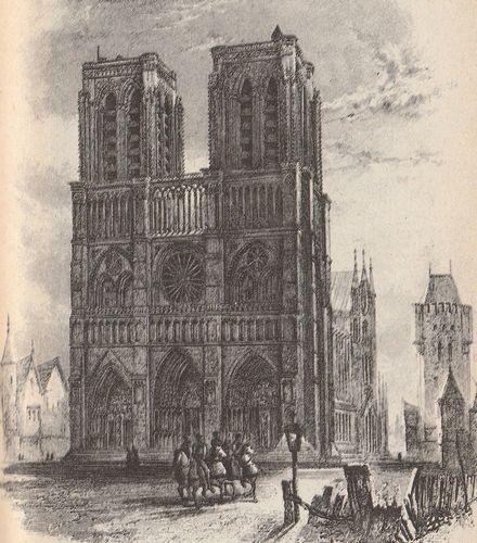中世のノートルダム大聖堂