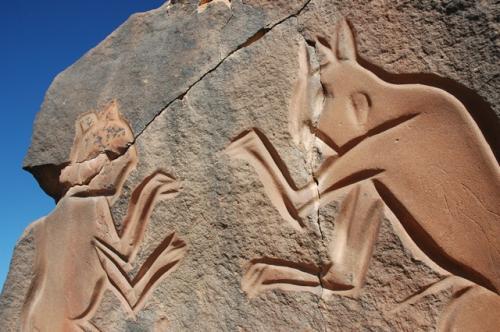 サハラ砂漠の原始絵画
