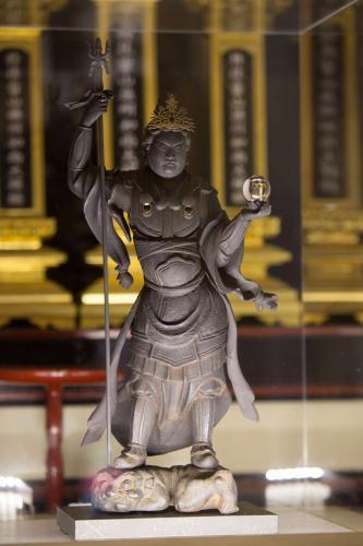 霊源院 中巌円月坐像胎内仏 毘沙門天立像