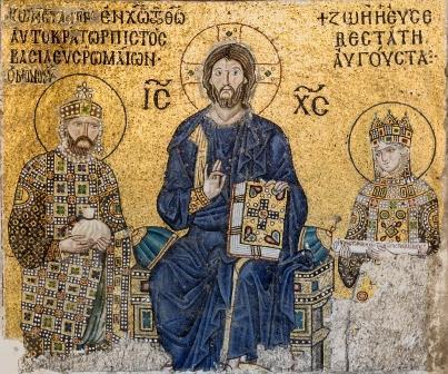 アギア・ソフィア大聖堂のモザイク画(コンスタンティノポリス)
