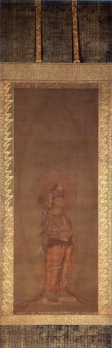 清浄華院 絹本著色阿弥陀三尊像右脇侍