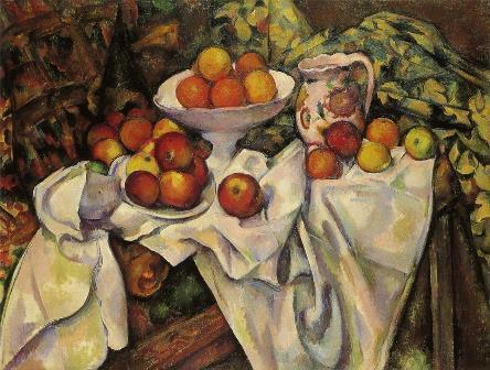ポール・セザンヌ 《りんごとオレンジ》1895-1900年、パリ、オルセー美術館
