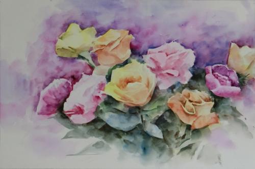 水彩画短期集中~バラの描き方完全マスター