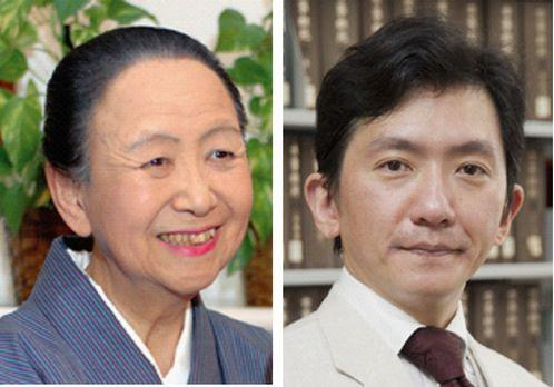 馬場あき子さん(左)、村上湛さん(右)
