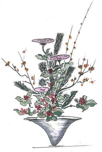 和(梅と菊) 写真はイメージです。