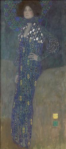 グスタフ・クリムト《エミーリエ・フレーゲの肖像》1902年 作品はすべてウィーン・ミュージアム蔵