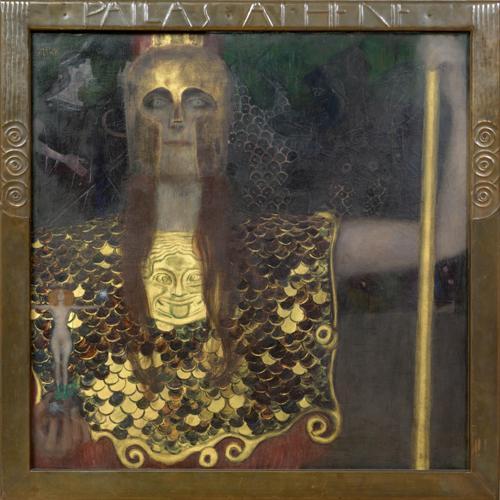グスタフ・クリムト《パラス・アテナ》1898年 ©Wien Museum / Foto Peter Kainz