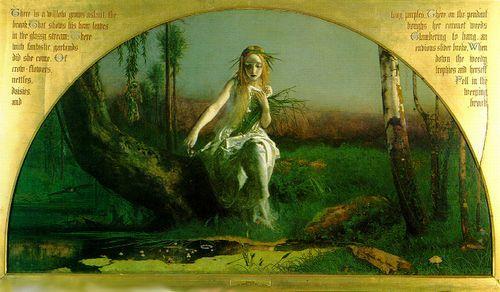 アーサー・ヒューズ画の『オフィーリア』
