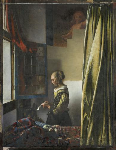 ヨハネス・フェルメール 《窓辺で手紙を読む女》