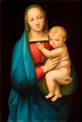 ラファエッロ『大公の聖母』1505~06年、板に油彩、84.4×55.9㎝、 パラティーナ美術館