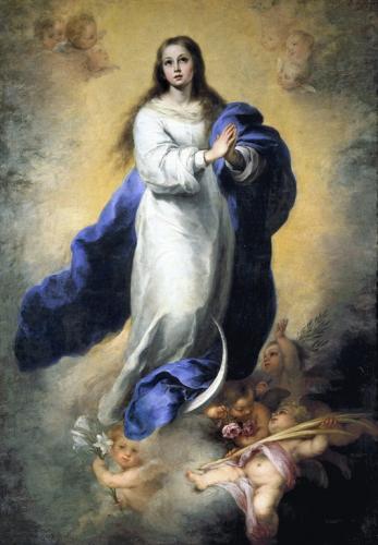 ムリーリョ『無原罪の御宿り』1660~1665、キャンヴァスに油彩、206×144㎝、 プラド美術館