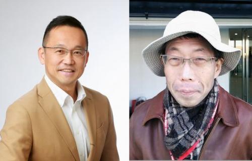村上晃一さん(左)小林深緑郎さん(右)