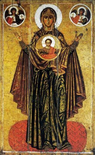 1190-1210年頃《偉大なるパナギアの聖母》トレチャコフ美 露モスクワ