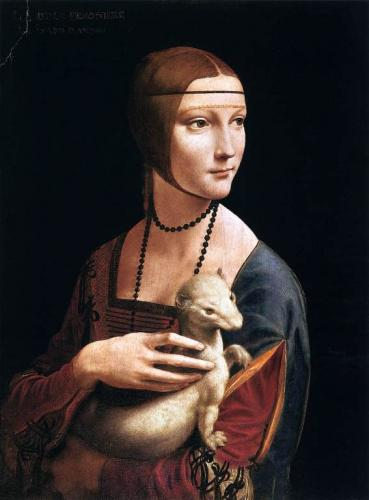 レオナルド・ダ・ヴィンチ《白貂を抱く貴婦人》